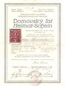 enlarge picture  - citizen certificate Czech