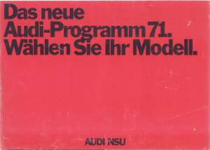 enlarge picture  - brochure Audi100 NSU