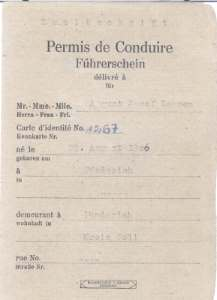 enlarge picture  - driving licence 1927 Kobl