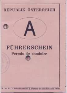 enlarge picture  - driving licence Austria