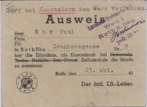 enlarge picture  - air-raid licence carefew