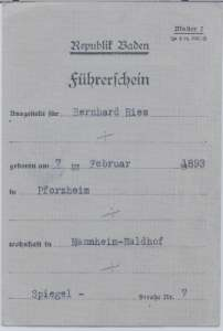 enlarge picture  - driving licence Baden