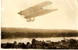 enlarge picture  - postcard aeronautic