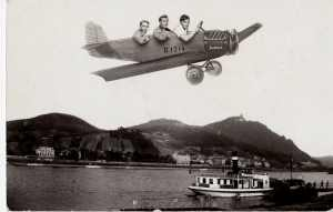 enlarge picture  - postcard aeronautic fun