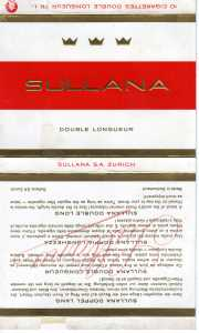 enlarge picture  - cigarette Sullana box