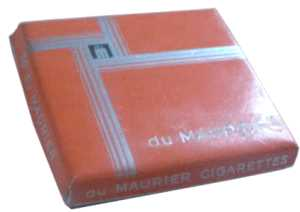 enlarge picture  - cigarette Maurier box