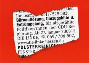 enlarge picture  - election postcard Linke