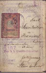 enlarge picture  - driving licence 1898 Aust