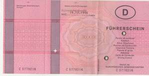 enlarge picture  - driving licence 1992 Glau