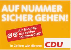 enlarge picture  - election postcard CDU Hes