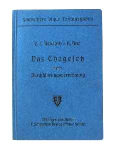 enlarge picture  - book law marriage German