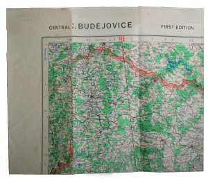 enlarge picture  - map aeronautical Budejov.