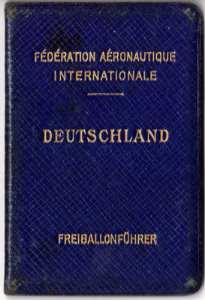 deutscher Ballonführerausweis 1912