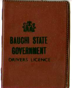 enlarge picture  - driving licence Bauchi NG