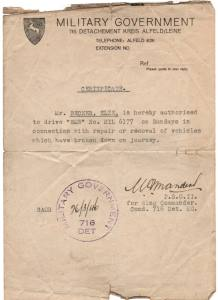 enlarge picture  - driving permit German MG