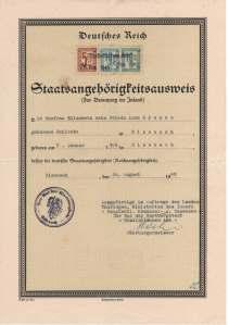 pass deutsches reich