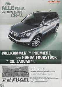 enlarge picture  - brochure car Honda CR-V