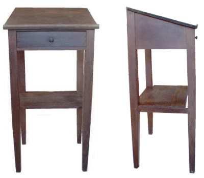 gr eres bild stehpult holz m hle 1880. Black Bedroom Furniture Sets. Home Design Ideas
