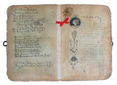 Buch Historismus, mittelalterliches Buch imitierend