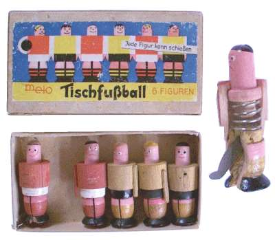 TipKick-Spiel aus Holz, Nachkriegszeit
