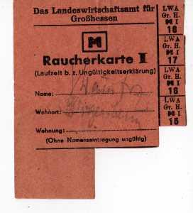 lebensmittelkarten 1945 bis 1947
