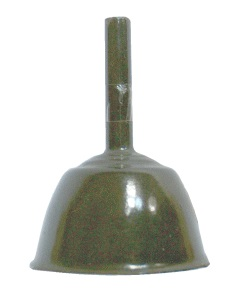 Flaschentrichter aus Oberteil der Eihandgranate  Modell 1939