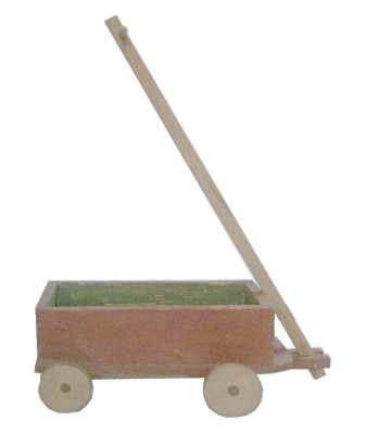 Spielzeug der deutschen Nachkriegszeit - Deichselwagen