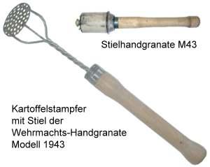Kartoffelstampfer aus deutscher Stielhandgranate Model 1943
