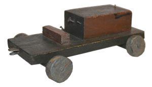 Nachkriegszeit Spielzeug Traktor aus Holz