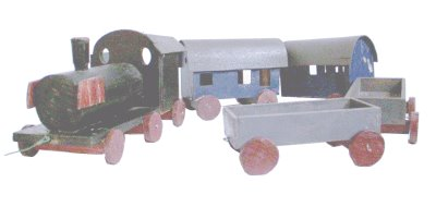 Spielzeug der deutschen Nachkriegszeit - Eisenbahnzug