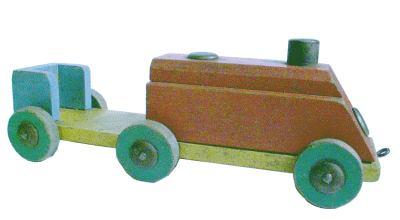 Spielzeug der deutschen Nachkriegszeit - Eisenbahnlokomotive
