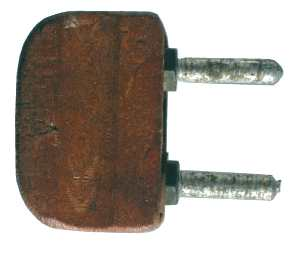 Holz Gehäuse Stromstecker 1943