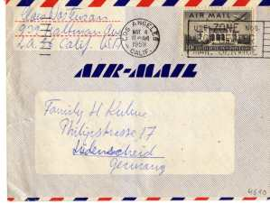 gr��eres Bild - Brief Aerogramm USA  1959