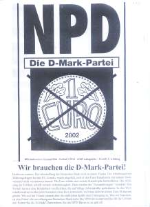 enlarge picture  - election pamhlet NPD 1997