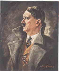 enlarge picture  - postcard Adolf Hitler WW