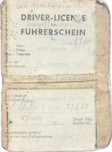 enlarge picture  - driving licence 1947 bus