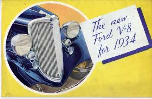 enlarge picture  - brochure Ford car 1934