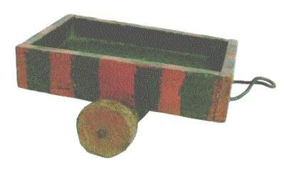 Spielzeug der deutschen Nachkriegszeit - Einachsanhänger