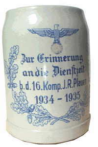 enlarge picture  - beer-stein army souvenir