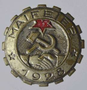 enlarge picture  - badge May 1st 1920
