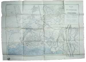 enlarge picture  - map 1870 German French w.