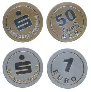 enlarge picture  - coin plastic Euro pre ed.